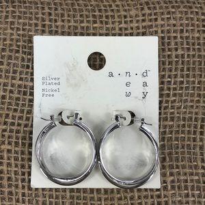 🐝 3/$15 Silver Plated Hoop Earrings Nickel Free